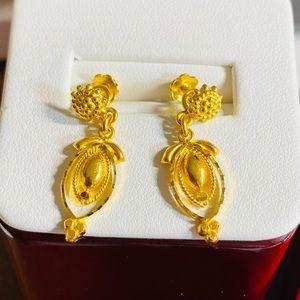 22K Fine 916 Gold Dangle Earring Firm Price‼️